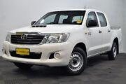 2013 Toyota Hilux KUN16R MY12 SR Double Cab 4x2 White 5 Speed Manual Utility Edgewater Joondalup Area Preview