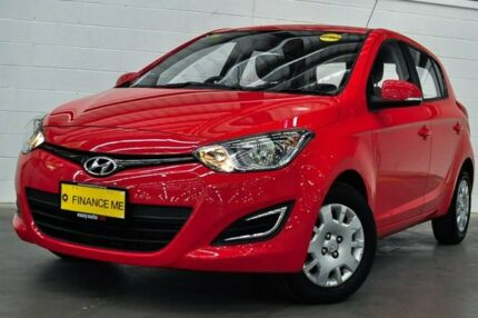 2012 Hyundai i20 PB MY13 Active Red 4 Speed Automatic Hatchback Canning Vale Canning Area Preview