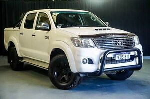 2014 Toyota Hilux KUN26R MY14 SR5 Double Cab White 5 Speed Manual Utility Wangara Wanneroo Area Preview