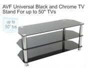 Beautiful TV Stand Black and Chrome for sale