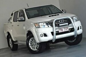2013 Toyota Hilux KUN26R MY12 SR5 Double Cab White 5 Speed Manual Utility Albion Brisbane North East Preview