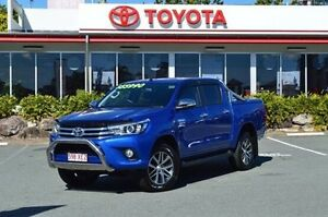 2016 Toyota Hilux GUN126R SR5 Double Cab Blue 6 Speed Manual Utility Highland Park Gold Coast City Preview
