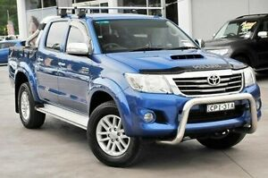 2013 Toyota Hilux KUN26R MY12 SR5 (4x4) Tidal Blue 4 Speed Automatic Dual Cab Pick-up Wyoming Gosford Area Preview