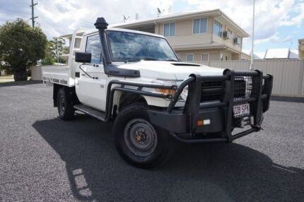 2012 Toyota Landcruiser VDJ79R MY10 Workmate French Vanilla 5 Speed Manual Cab Chassis