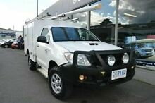 2011 Toyota Hilux KUN26R MY10 SR White 5 Speed Manual Cab Chassis Derwent Park Glenorchy Area Preview