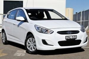 2017 Hyundai Accent RB4 MY17 Active White 6 Speed Constant Variable Hatchback Gosford Gosford Area Preview