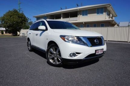 2013 Nissan Pathfinder R52 MY14 Ti X-tronic 2WD White 1 Speed Constant Variable Wagon Dalby Dalby Area Preview