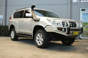 2010 Toyota Landcruiser Prado KDJ150R GXL (4x4) Silver 5 Speed Sequential Auto Wagon South Maitland Maitland Area Preview