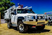 2013 Nissan Patrol Y61 GU 6 SII MY13 DX White 5 Speed Manual Cab Chassis Wangara Wanneroo Area Preview