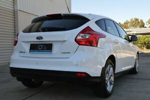 2013 Ford Focus LW MKII Trend PwrShift White 6 Speed Sports Automatic Dual Clutch Hatchback Ashmore Gold Coast City Preview