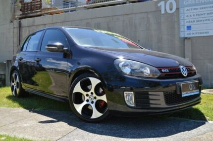 2010 Volkswagen Golf VI MY10 GTI DSG Black 6 Speed Sports Automatic Dual Clutch Hatchback Ashmore Gold Coast City Preview