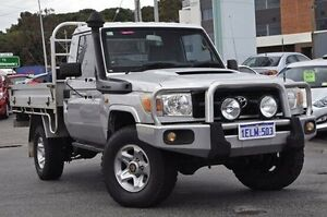 2010 Toyota Landcruiser VDJ79R MY10 Workmate Silver 5 Speed Manual Cab Chassis Myaree Melville Area Preview