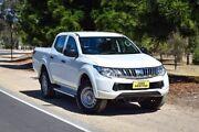 2015 Mitsubishi Triton MQ MY16 GLX Double Cab White 6 Speed Manual Utility Medindie Walkerville Area Preview