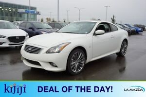 2014 INFINITI Q60 Coupe AWD S TECH 3.7L V6 Navigation (GPS),  Le