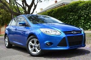 2013 Ford Focus LW MKII Trend PwrShift Blue 6 Speed Sports Automatic Dual Clutch Hatchback Thorngate Prospect Area Preview