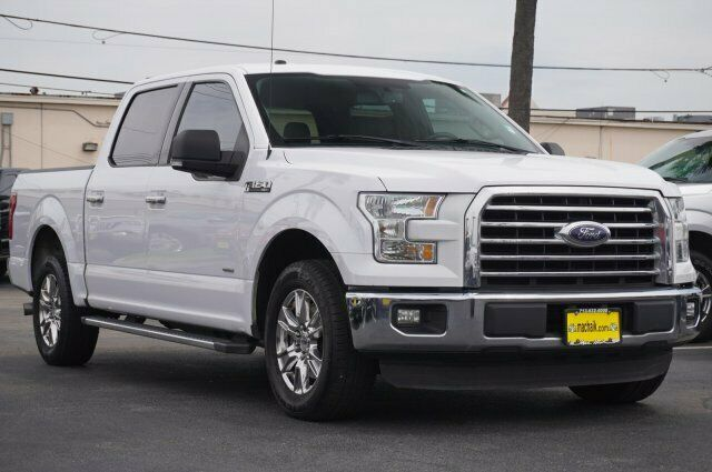 Owner 2016 Ford F-150 XLT 74286 Miles White Crew Cab Pickup Twin Turbo Regular Unleade