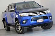 2018 Toyota Hilux GUN126R SR5 Double Cab Blue 6 Speed Sports Automatic Utility Kedron Brisbane North East Preview