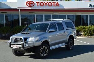 2014 Toyota Hilux KUN26R MY14 SR5 Double Cab Silver 5 Speed Automatic Utility Highland Park Gold Coast City Preview