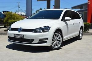 2015 Volkswagen Golf AU MY15 110 TDI Highline White 6 Speed Direct Shift Wagon South Maitland Maitland Area Preview