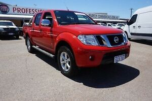 2013 Nissan Navara D40 S5 MY12 ST-X Red 7 Speed Sports Automatic Utility Pearsall Wanneroo Area Preview