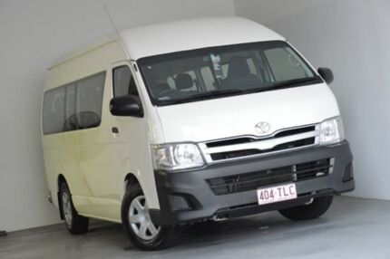 2013 Toyota Hiace KDH223R MY12 Commuter High Roof Super LWB White 4 Speed Automatic Bus Albion Brisbane North East Preview