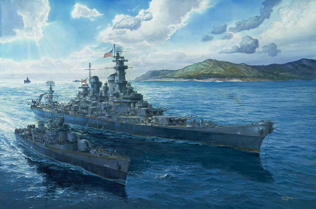 "Tokyo Bay 1945 /""Triumph and Peace/"" Tom Freeman Artist Proof USS Missouri"