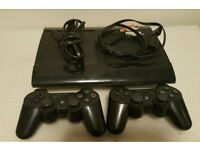 ps3 super slim comes with two controllers and two games