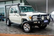 2016 Toyota Landcruiser VDJ79R GXL Double Cab White 5 Speed Manual Cab Chassis Wangara Wanneroo Area Preview
