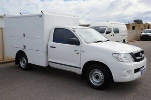 2010 Toyota Hilux GGN15R MY10 SR White 5 Speed Manual Cab Chassis Pearsall Wanneroo Area Preview