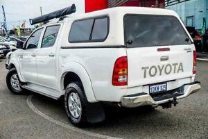 2010 Toyota Hilux KUN26R 09 Upgrade SR5 (4x4) White 4 Speed Automatic Dual Cab Pickup