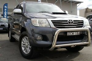2013 Toyota Hilux KUN26R MY12 SR5 Double Cab Grey 5 Speed Manual Utility Pearce Woden Valley Preview