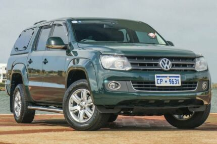 2015 Volkswagen Amarok 2H MY15 TDI420 4Motion Perm Highline Green 8 Speed Automatic Utility