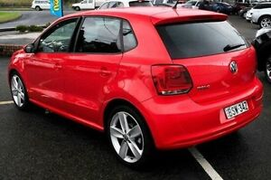 2010 Volkswagen Polo 6R MY11 77TSI DSG Comfortline Red 7 Speed Sports Automatic Dual Clutch Gosford Gosford Area Preview