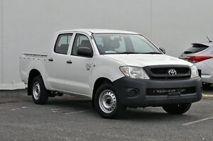 2011 Toyota Hilux TGN16R MY12 Workmate Double Cab White 5 Speed Manual Utility Tweed Heads South Tweed Heads Area Preview
