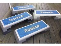 2 x professional Reebok fitness steps