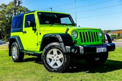 2013 Jeep Wrangler JK MY2014 Sport Green 5 Speed Automatic Softtop Wangara Wanneroo Area Preview