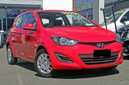 2013 Hyundai i20 PB MY13 Active Electric Red 6 Speed Manual Hatchback Cleveland Redland Area Preview