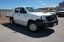 2012 Toyota Hilux KUN26R MY12 Workmate Double Cab White 4 Speed Automatic Utility Pearsall Wanneroo Area Preview
