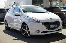 2014 Peugeot 208 A9 MY13 Allure Premium White 4 Speed Automatic Hatchback Glendalough Stirling Area Preview