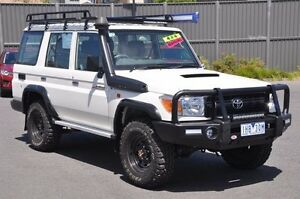 2016 Toyota Landcruiser VDJ76R Workmate White 5 Speed Manual Wagon Knoxfield Knox Area Preview