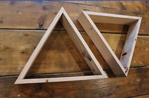 Wood triangle shelves