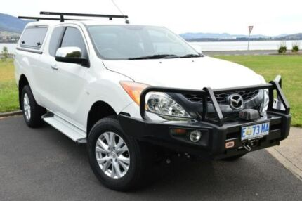 2015 Mazda BT-50 UP0YF1 XTR Freestyle White 6 Speed Manual Utility Derwent Park Glenorchy Area Preview