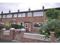 3 Bed house, gas central heating, secure parking at rear