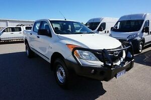 2012 Mazda BT-50 UP0YF1 XT White 6 Speed Manual Utility Pearsall Wanneroo Area Preview