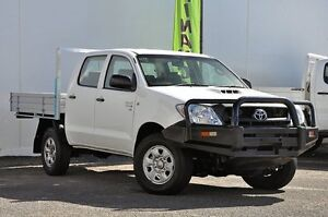 2011 Toyota Hilux KUN26R MY12 SR Double Cab White 5 Speed Manual Cab Chassis Tweed Heads South Tweed Heads Area Preview