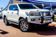 2016 Toyota Hilux GUN126R SR5 Double Cab White 6 Speed Sports Automatic Utility Wangara Wanneroo Area Preview