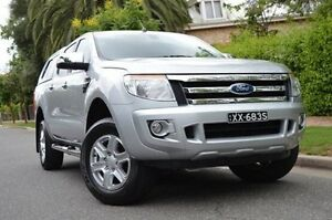 2013 Ford Ranger PX XLT Double Cab 4x2 Hi-Rider Silver 6 Speed Sports Automatic Utility Thorngate Prospect Area Preview