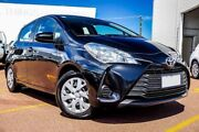 2017 Toyota Yaris NCP130R Ascent Black 4 Speed Automatic Hatchback Westminster Stirling Area Preview