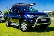2011 Mitsubishi Triton MN MY11 GL-R Double Cab Blue 4 Speed Automatic Utility Wangara Wanneroo Area Preview