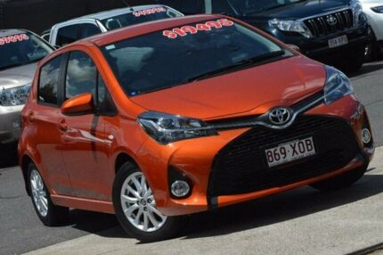 2016 Toyota Yaris NCP131R ZR Orange 4 Speed Automatic Hatchback Taringa Brisbane South West Preview